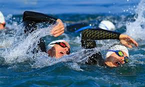 Tri images swim